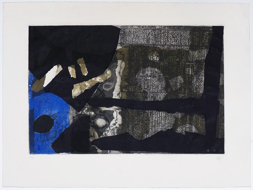 Ocre, noir et bleu - ANTONI CLAVÉ - ACL 0029