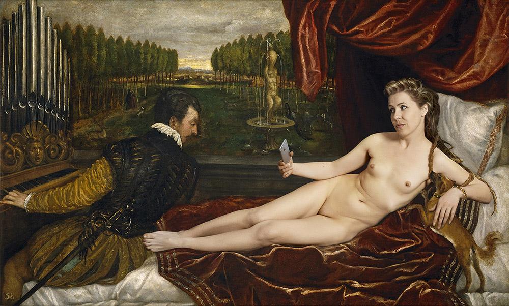 Venus recreandose en la música (Tiziano, El Prado) - PERE COLOM - COL 0056