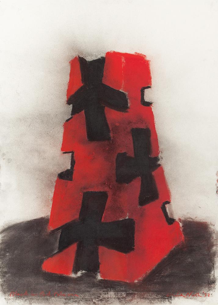 Black and Red Column - DAVID NASH - GDN 1010