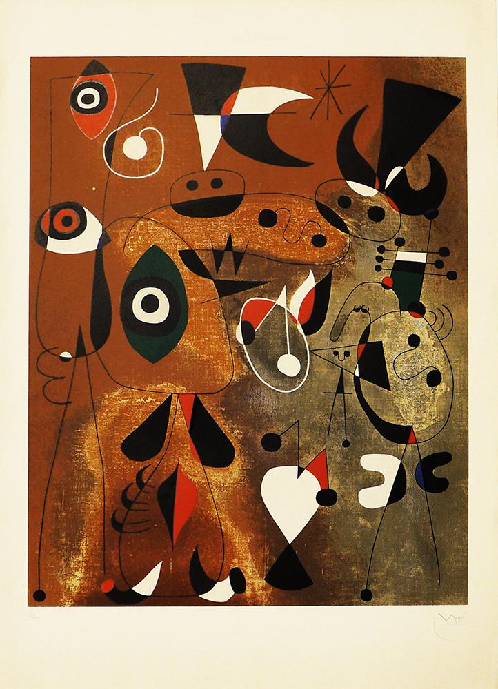 Femme, Oiseaux, Etoile - JOAN MIRÓ - MI 0125
